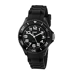 Limit - Unisex black watch with black strap.