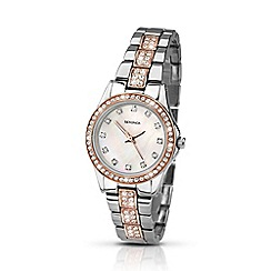 Sekonda - Ladies two-tone stone set bracelet watch