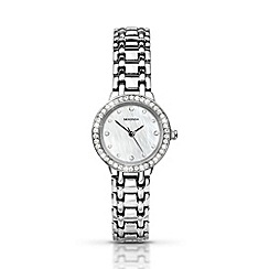 Sekonda - Ladies chrome coloured stone set bracelet watch