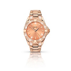 Seksy - Ladies rose gold plated stone set fashion bracelet watch made with Swarovski «elements