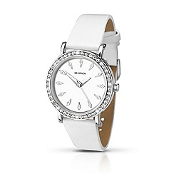 Sekonda - Ladies chrome coloured stone set strap watch 2024.28