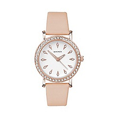 Sekonda - Ladies rose gold plated stone set strap watch 2027.28