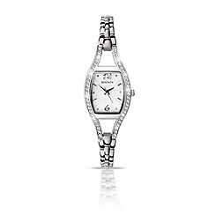 Sekonda - Ladies chrome coloured stone set bracelet watch 4191.28