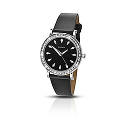 Sekonda - Ladies chrome coloured stone set strap watch