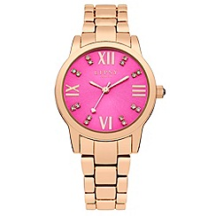 Lipsy - Ladies rose tone bracelet watch with pink dial