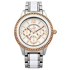 Lipsy - Ladies white bracelet watch with white dial