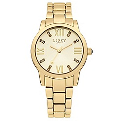 Lipsy - Ladies gold tone bracelet watch with gold tone dial