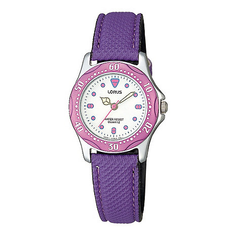 Lorus - Kids+ round dial with blue fabric strap watch
