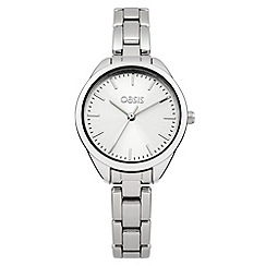 Oasis - Ladies silver tone bracelet watch with silver tone dial