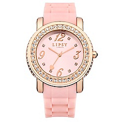 Lipsy - Ladies pink silicone strap watch