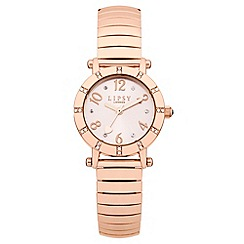 Lipsy - Ladies rose tone expander watch