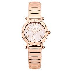 Lipsy - Ladies rose tone expander watch