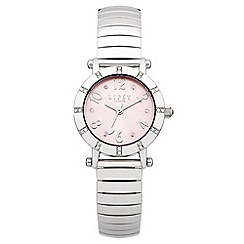 Lipsy - Ladies silver tone expander watch