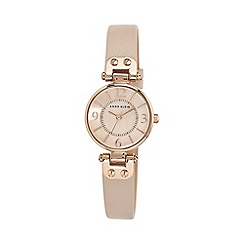 Anne Klein - Ladies blush pink mini leather watch