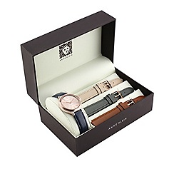 Anne Klein - Ladies multi strap leather rose gold watch