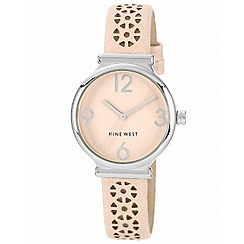 Nine West - Ladies pink leather watch