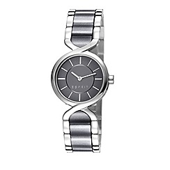 Esprit - Ladies stainless steel and black bracelet watch