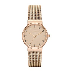 Skagen - Womens 'Ancher' steel mesh watch