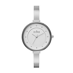 Skagen - Womens 'Gitte' stainless steel bracelet banglewatch