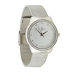 J by Jasper Conran - Designer ladies silver mesh strap watch