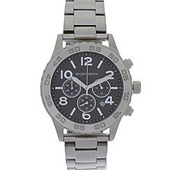 RJR.John Rocha - Designer men's silver chunky chronograph watch