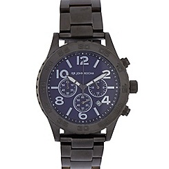 RJR.John Rocha - Designer men's dark grey chunky chronograph watch