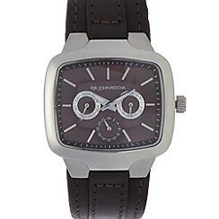 RJR.John Rocha - Designer men's dark grey leather multi-dial watch