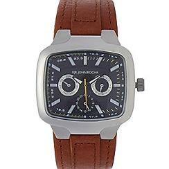 RJR.John Rocha - Designer men's taupe leather multi-dial watch