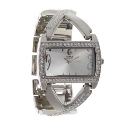 EB by Erickson Beamon Women's silver crossover strap watch
