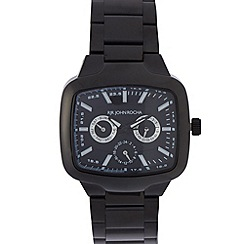 RJR.John Rocha - Designer men's black buckle multi-dial watch
