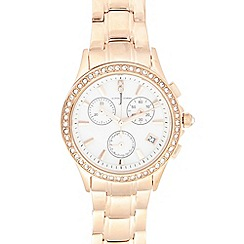 J by Jasper Conran - Ladies designer rose chronograph watch