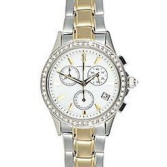 J by Jasper Conran - Ladies designer silver chronograph watch