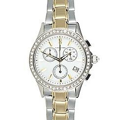 J by Jasper Conran - Ladies designer silver chronograph watch
