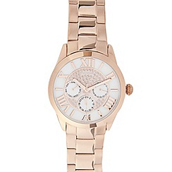 RJR.John Rocha - Designer ladies rose gold embellished watch
