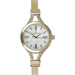 RJR.John Rocha - Ladies designer gold skinny demi watch