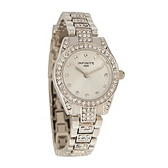 Infinite - Ladies silver diamante dial and bracelet watch