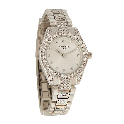 Infinite - Ladies silver diamante dial and bracelet watch