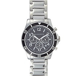 RJR.John Rocha - Designer men's silver plated chronograph watch