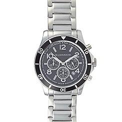RJR.John Rocha - Designer men's silver plated chronograph watch