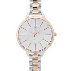 J by Jasper Conran - Designer ladies silver slim strap watch