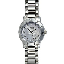 Van Peterson 925 - Ladies silver mini branded bezel watch