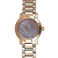 Van Peterson 925 - Ladies rose mini branded bezel watch