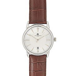 Jeff Banks - Men's brown leather analogue watch