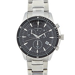J by Jasper Conran - Designer men's silver chronograph watch