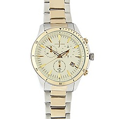 J by Jasper Conran - Ladies gold plated stainless steel two tone chronograph watch