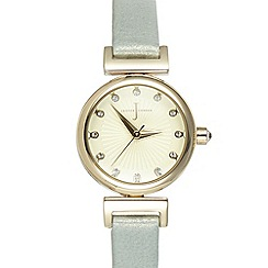 J by Jasper Conran - Ladies designer light green mini Swarovski dial watch