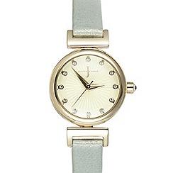 J by Jasper Conran - Ladies designer light green mini Swarovski dial watch