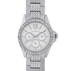RJR.John Rocha - Designer ladies silver crystal bezel multi dial watch