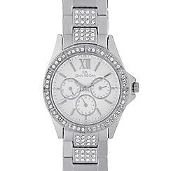 RJR.John Rocha - Designer ladies silver crystal bezel multi dial watch