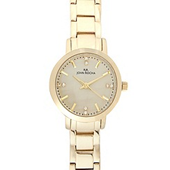 RJR.John Rocha - Ladies designer gold mini dial watch